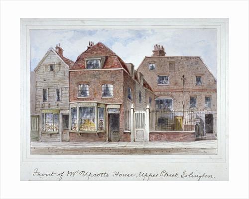 Front view of Mr Upcott's house, Upper Street, Islington, London by Thomas Hosmer Shepherd