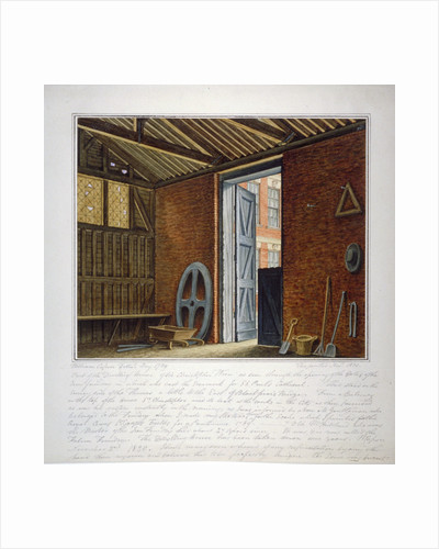 Part of the dwelling house of Sir Christopher Wren, Southwark, London by William Capon