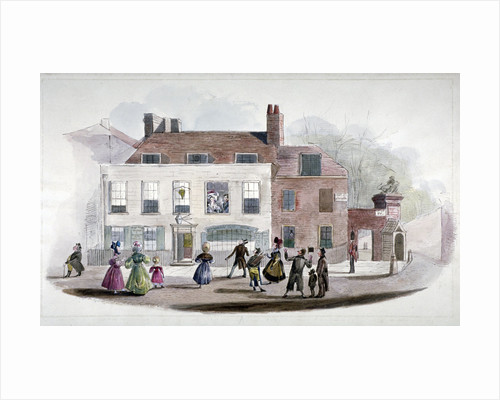 A coffee house and the King's Arms Tavern in Kensington, London by Anonymous
