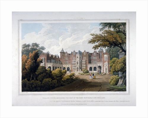 Holland House, Kensington, London by Robert Havell