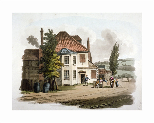 The Farthing Pie House Inn on St Marylebone New Road, London by William Pickett