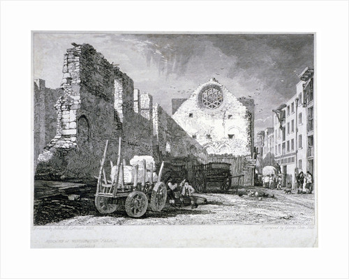 Ruins of the Bishop of Winchester's palace, Southwark, London by John Sell Cotman