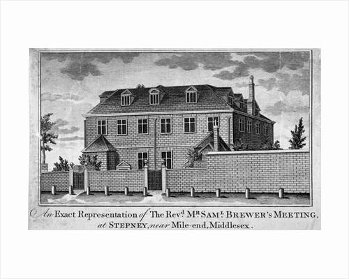 View of Stepney Meeting House, Stepney, London by Charles Joseph Hullmandel