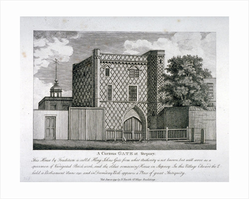 View of a gateway in Stepney, London by John Crowther
