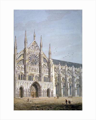North door of Westminster Abbey, London by George Shepherd