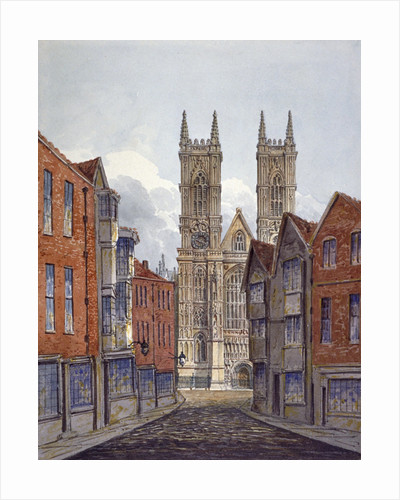 View of the west end of Westminster Abbey, looking from Tothill Street, London by Anonymous