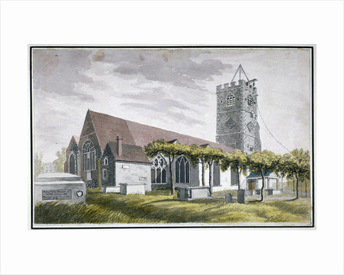 North-east view of All Saints Church, Fulham, London by I Shaw