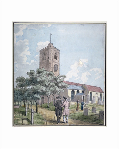 South-west view of All Saints Church, Fulham, London by I Shaw