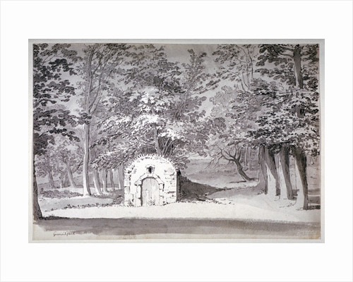 An ice house or conduit in Greenwich Park, London by French School