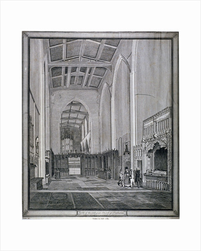 Interior of the Church of St Katherine by the Tower, Stepney, London by F Perry