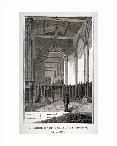 Interior of the Church of St Katherine by the Tower, Stepney, London by JWA