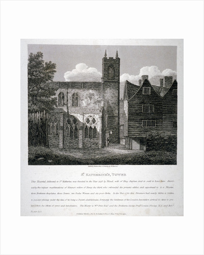 Church of St Katherine by the Tower, Stepney, London by W Preston