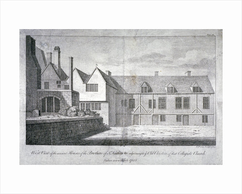 West view of the Church of St Katherine by the Tower, Stepney, London by F Perry