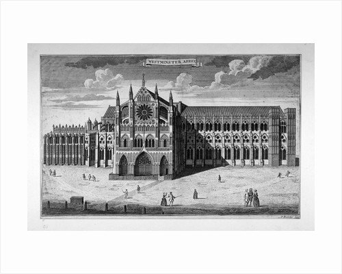 View of the west end of Westminster Abbey before the addition of towers, London by Anonymous