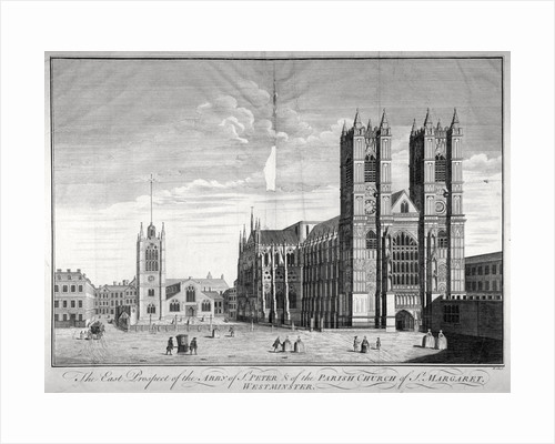 East view of Westminster Abbey and St Margaret's Church, London by Benjamin Cole