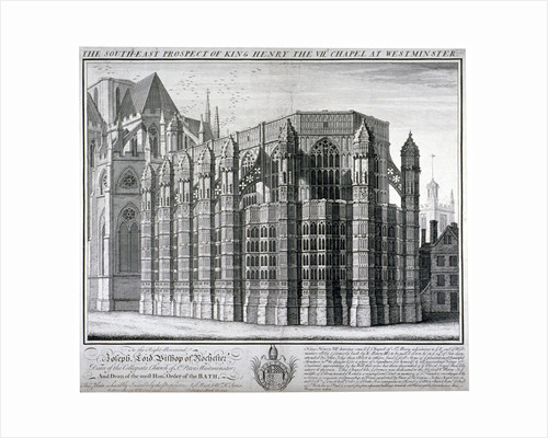 South-east view of King Henry VII's chapel at Westminster Abbey, London by William Henry Toms