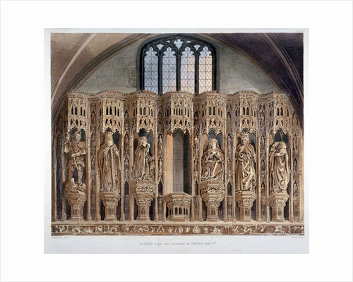 Screen over the chantry of Henry V, Westminster Abbey, London by Louis Charles Auguste Couder
