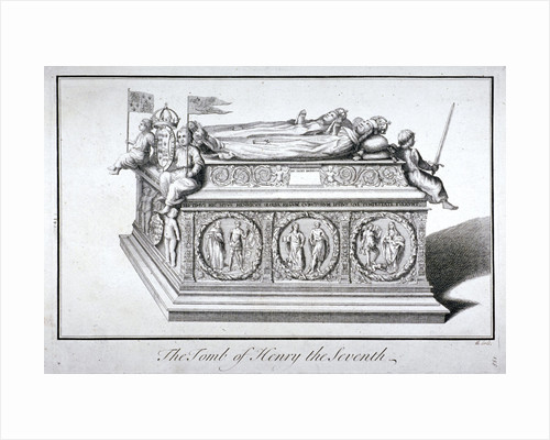 Tomb of Henry VII and Queen Elizabeth in the king's chapel, Westminster Abbey, London by Benjamin Cole