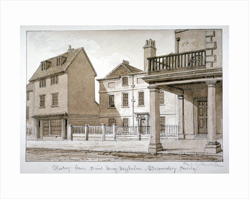 The rectory, St Mary Magdalen, Bermondsey, London by John Chessell Buckler