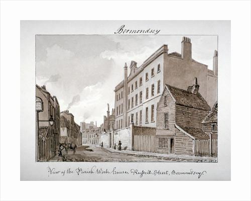 Parish Work House, Tanner Street, Bermondsey, London by John Chessell Buckler