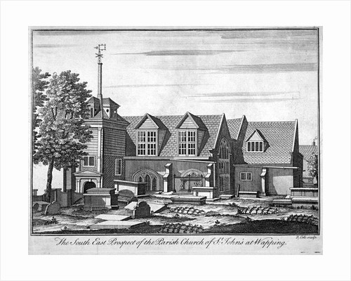 South-east prospect of the parish church of St John-at-Wapping, London by Benjamin Cole