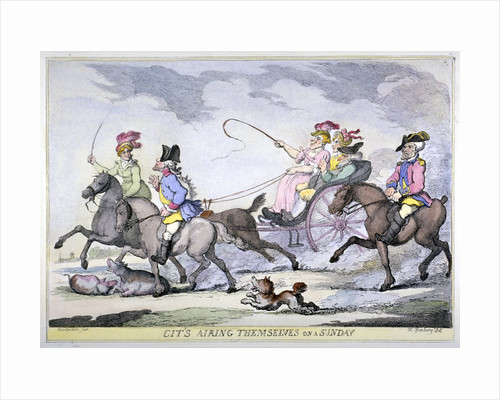 Cits Airing Themselves on a Sunday by Thomas Rowlandson