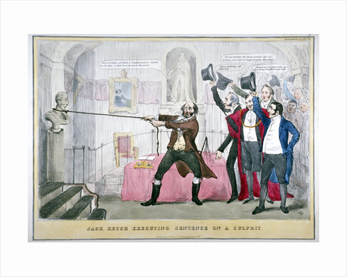 Jack Ketch executing sentence on a culprit by T Fielding