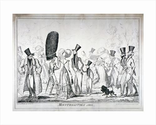 Monstrosities of 1821 by George Cruikshank