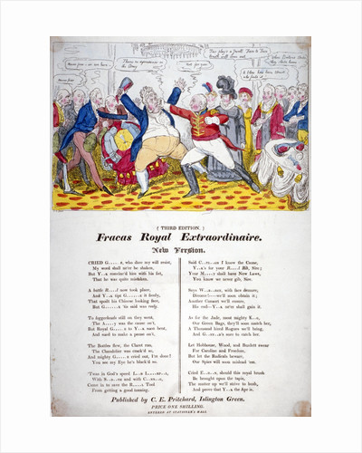 Fracas Royal Extraordinaire by Isaac Robert Cruikshank