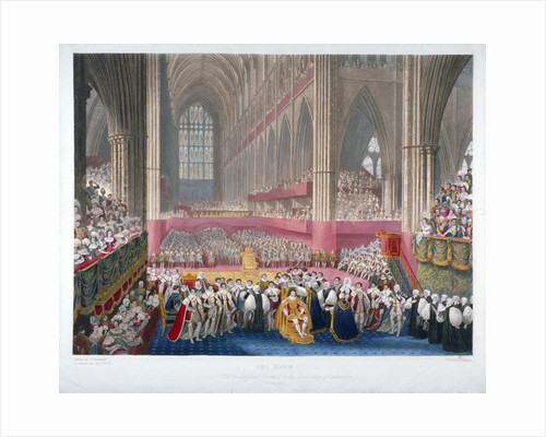 The coronation of King George IV in Westminster Abbey, London, 19th July by Frederick Christian Lewis
