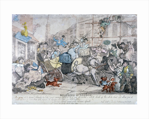 Miseries of London... by Thomas Rowlandson