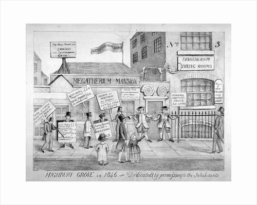 Highbury Grove in 1846 - Dedicated by permission to the inhabitants by Thomas Hosmer Shepherd