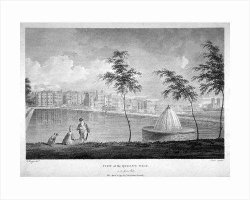 Queen's Walk in Green Park, Westminster, London by James Sargant Storer