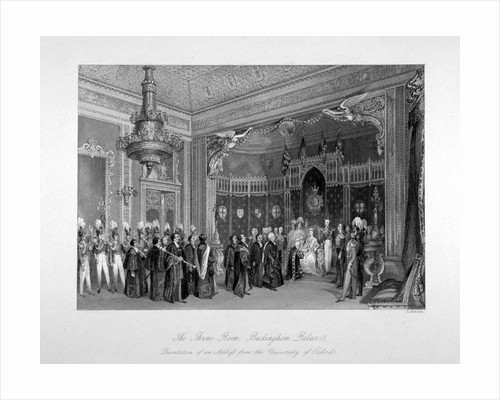 Interior view of the throne room, Buckingham Palace, Westminster, London by Harden Sidney Melville