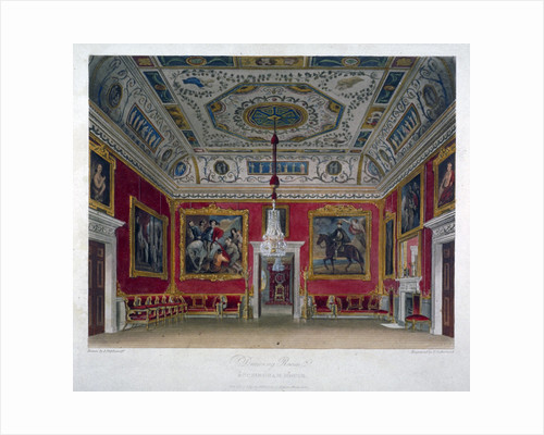 Interior view of the drawing room in Buckingham House, Westminster, London by Thomas Malton II
