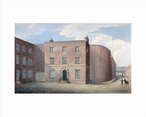 View of the entrance to King's Bench Prison, Southwark, London by G Yates