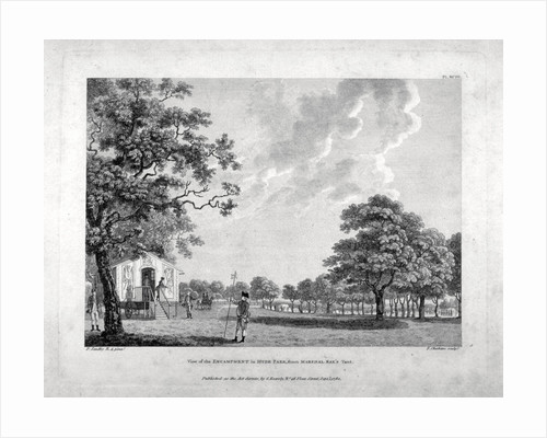 Army camp in Hyde Park, London by Francis Chesham