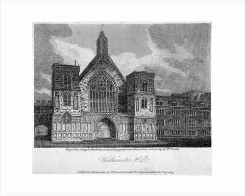Westminster Hall from New Palace Yard, London by John Greig