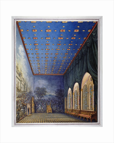 Proposed scheme for redecorating the Painted Chamber, Old Palace of Westminster, London by William Capon