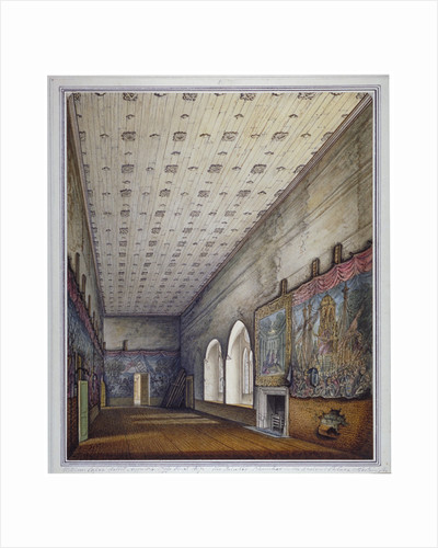 Interior view of the Painted Chamber, Palace of Westminster, London by William Capon