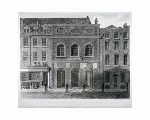 View of the King's Theatre, Haymarket, London by John Roffe