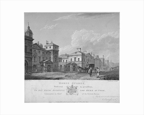 Horse Guards, Westminster, London by Thomas Medland