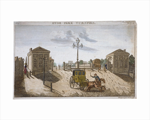 View of Hyde Park Corner Turnpike, Westminster, London by Anonymous