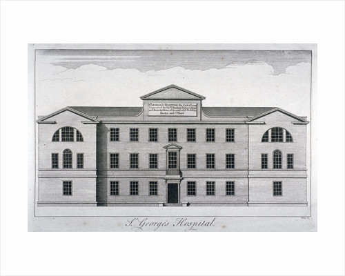 Front elevation of St George's Hospital, Hyde Park Corner, Westminster, London, c1740 by Samuel Hieronymus Grimm