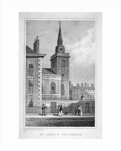View of the north-western end of St James's Church, Piccadilly, London by Thomas Barber