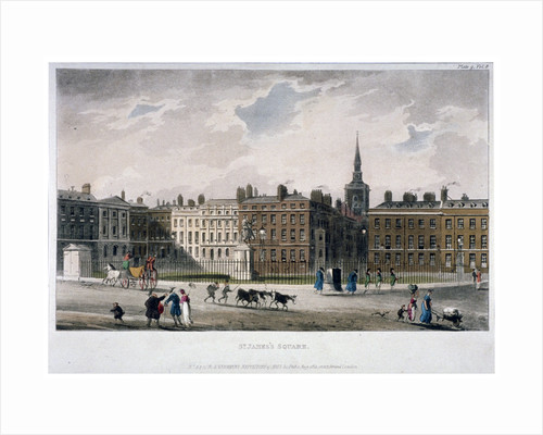 View of St James's Square from the south-east corner, London by Anonymous