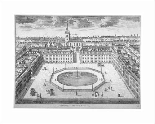 St James's Square from the south, London by Sutton Nicholls