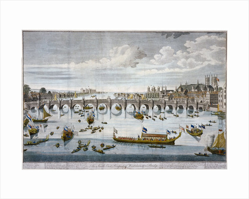 North prospect of Westminster Bridge, London by Benjamin Cole