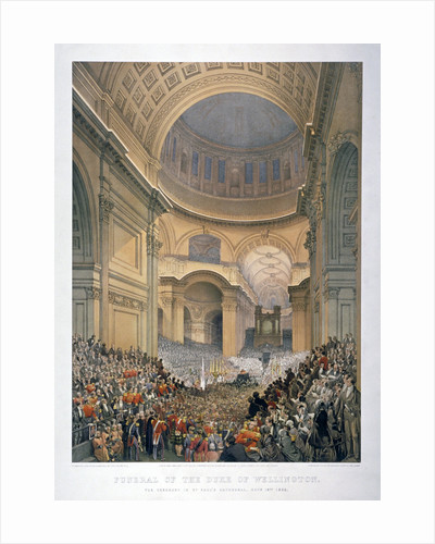 Interior of St Paul's Cathedral during the funeral of the Duke of Wellington, London, 1852 (1853) by Anonymous