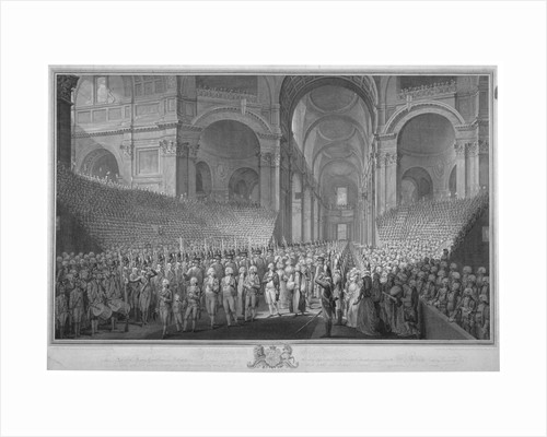 Service of thanksgiving in St Paul's Cathedral, City of London, 1789 (1793) by James Neagle